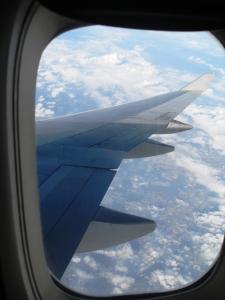 Somewhere over England. Or Europe.